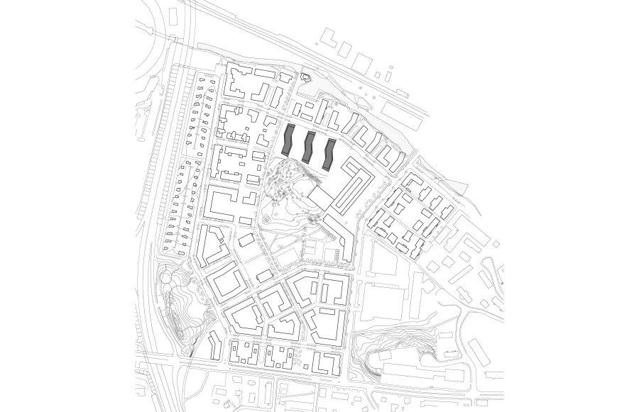 KjellanderSjoberg Annedalsterrassen Site-plan