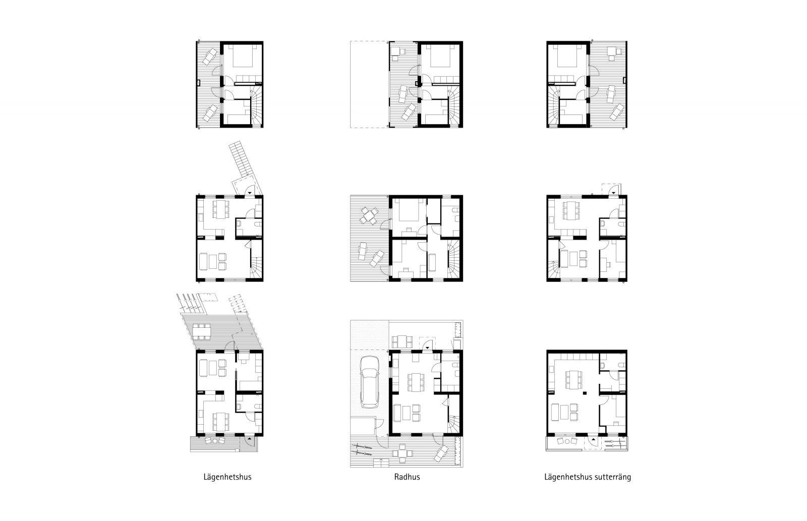 KjellanderSjoberg Fittja Terrace plans