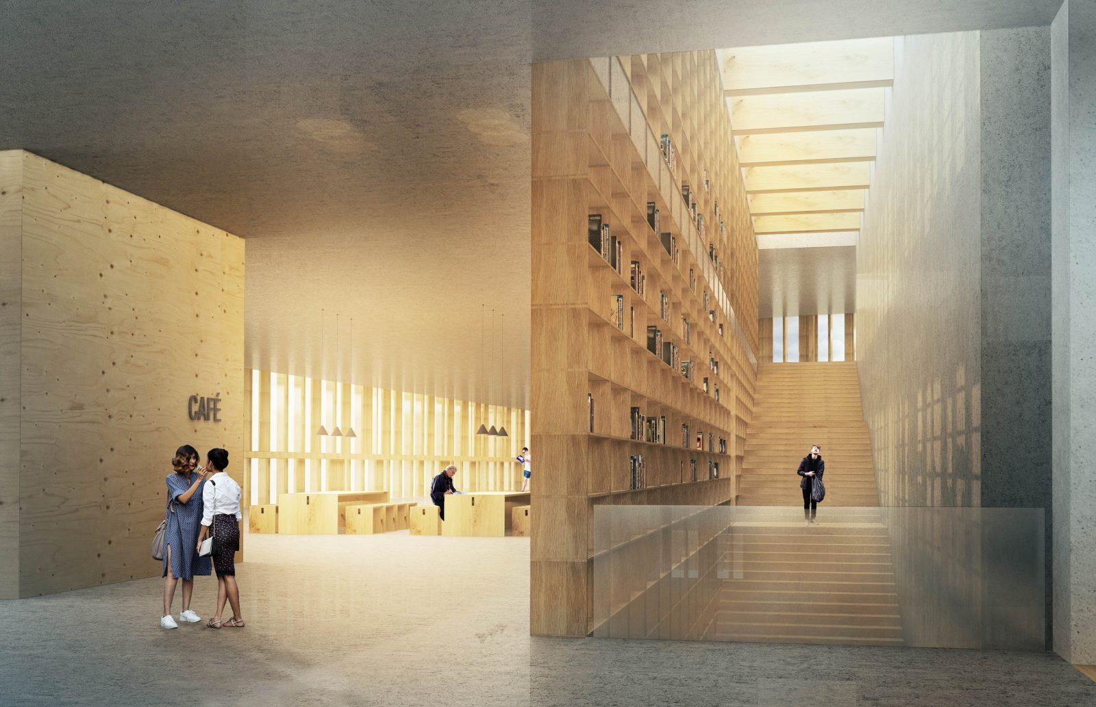 KjellanderSjoberg Glanta interior library