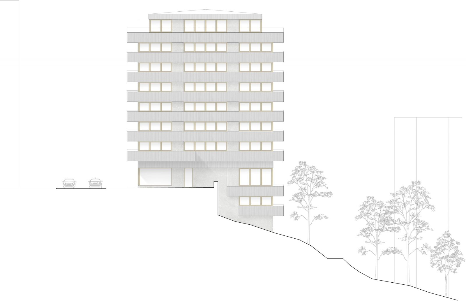P:ProjektBergsbrantenAModellHus1 elevationer Model (1)