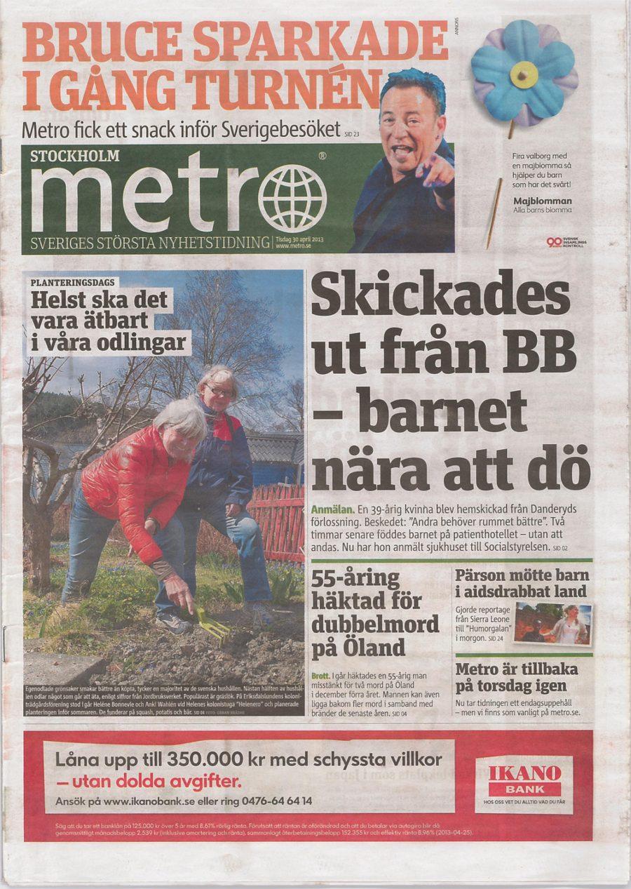 Metro 2013 cover