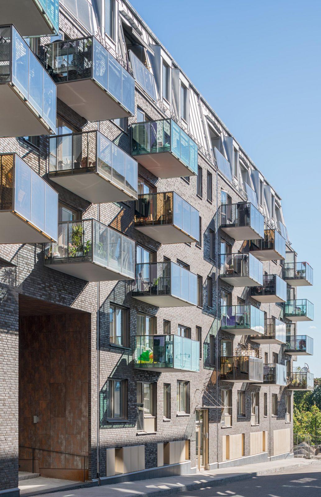 Kjellander Sjoberg Facad Balconies