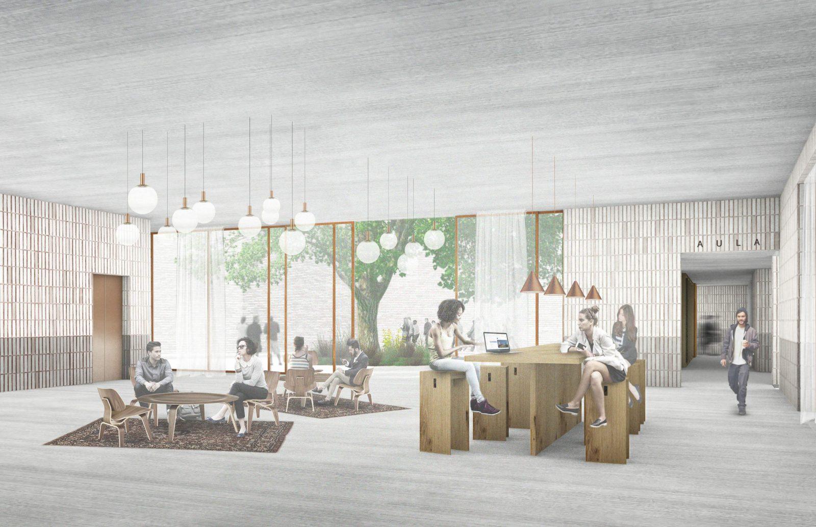 KjellanderSjöberg Högskolan StoraSköndal interior 3600x2324px