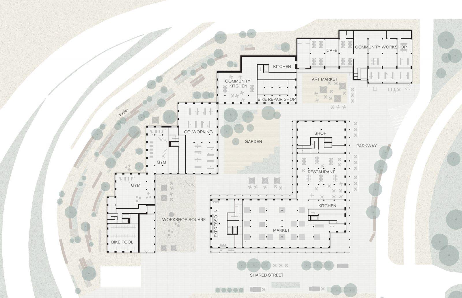 KjellanderSjjoberg Nacka-Port Illustrationsplan ENG 3600x2324px