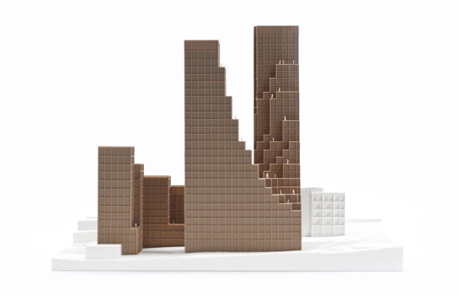 KjellanderSjoberg Nacka-Port modell fasad 3600x2324px