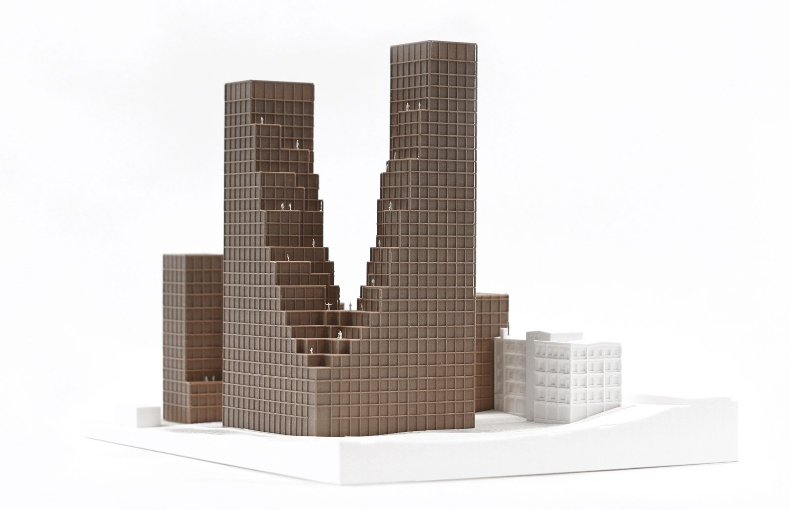 KjellanderSjoberg Nacka-Port modell perspektiv 3600x2324px