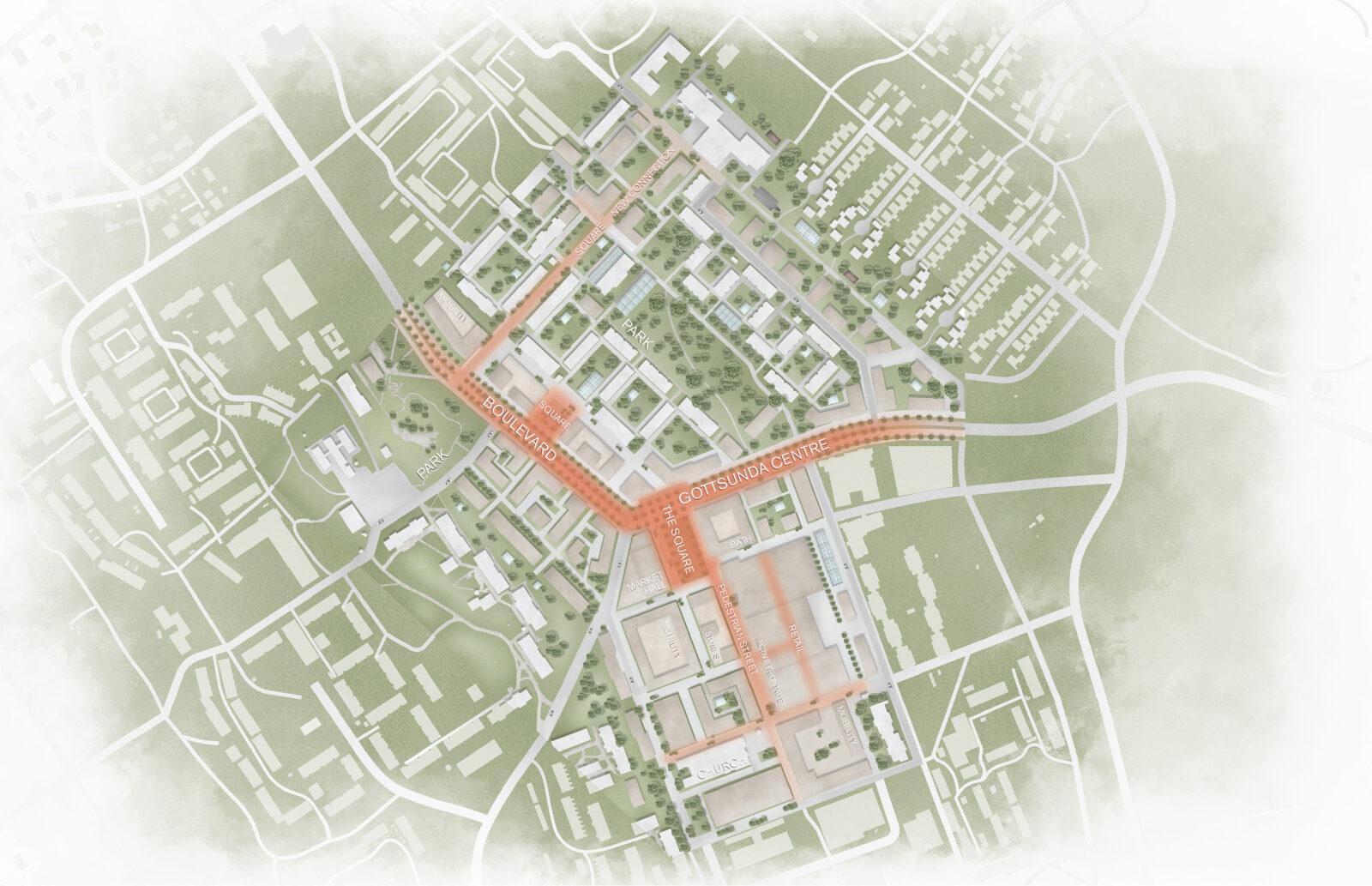 KjellanderSjoberg Gottsunda Site plan Eng 3600x2324px