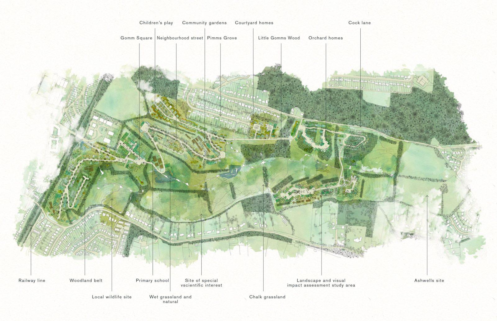 KjellanderSjoberg Little-Haldens Site-plan Akvarel 3600x2324
