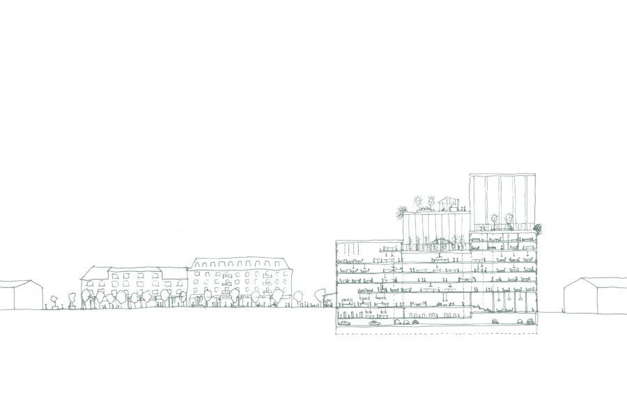 KjellanderSjoberg Hand sketches Paushuset 3600x2324px