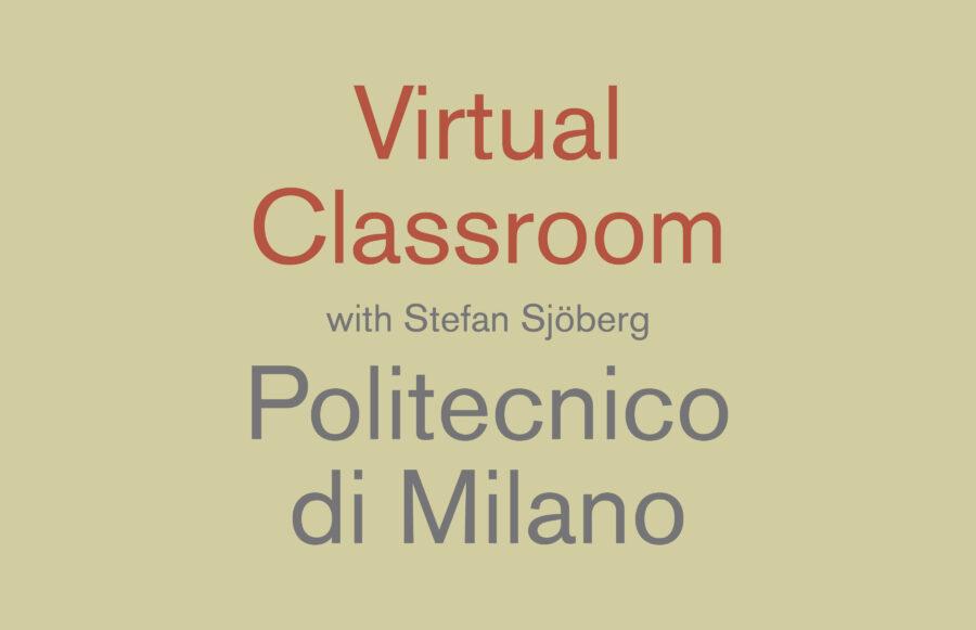 210527 - Lecture Politecninco Milano